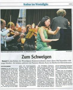 Westallgäuer Zeitung Juni 2016